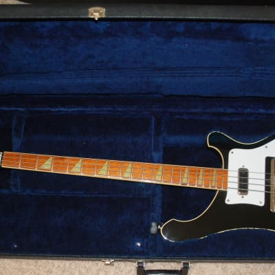 1983 Rickenbacker 4001 Black Smokin Bass Guitar All Original HSOC