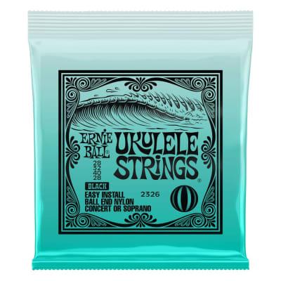 Ernie Ball Ukulele Ball End Nylon Strings - Black