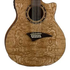 Dean Guitars Exotica 12 String Quilt Ash Acoustic Electric Guitar, EQA12 GN for sale