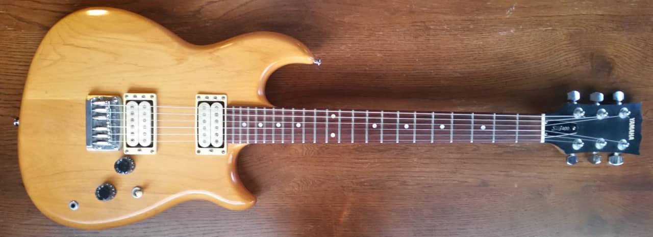 vintage 1981 mij yamaha shb 400 electric guitar w natural reverb. Black Bedroom Furniture Sets. Home Design Ideas