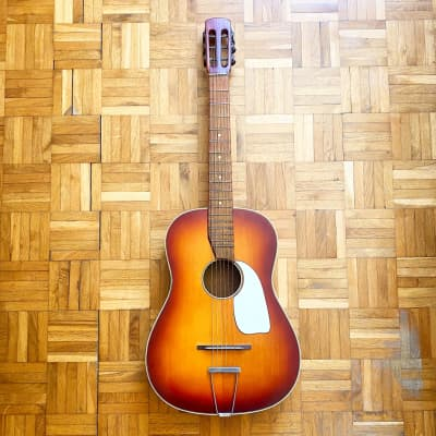 Perl Gold rare and gorgeous vintage guitar! Made in Germany probably in 1950s! New Strings! Super! for sale