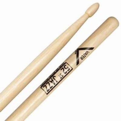 Vater #VH52JW - 52nd St Jazz, Hickory Wood Tip Drumsticks