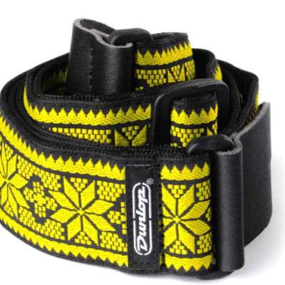 Dunlop Jacquard Fillmore Yellow Strap