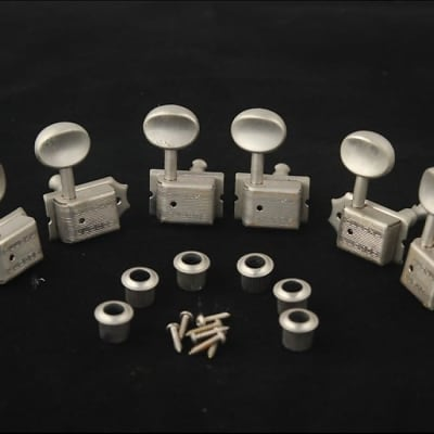 Kluson Kluson Deluxe Double Line tuners set  Vintage Aged Nickel for sale