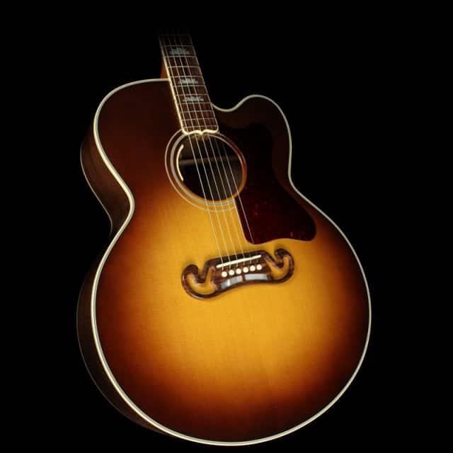 Used Gibson Montana Limited Edition J-200 Claro Walnut Acoustic-Electric Guitar Honeyburst image