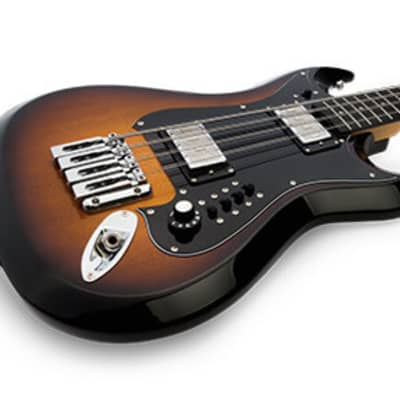 Hagstrom H8II-TSB Retroscape Double Cutaway Canadian Hard Maple Neck 8-String Electric Bass Guitar for sale