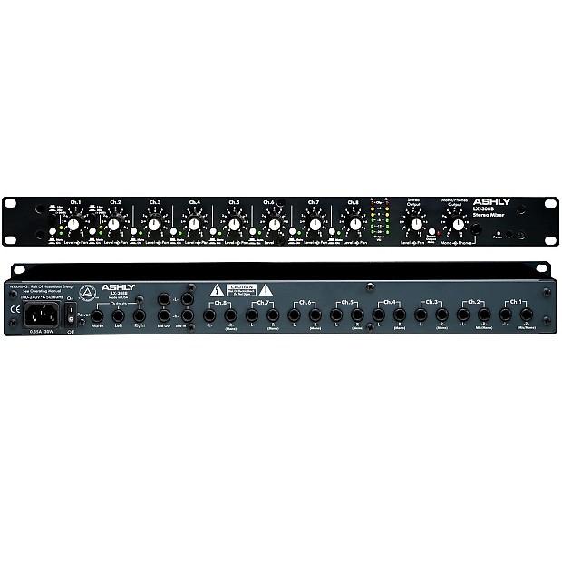 ashly lx 308b rackmount 8 channel stereo line mixer reverb. Black Bedroom Furniture Sets. Home Design Ideas
