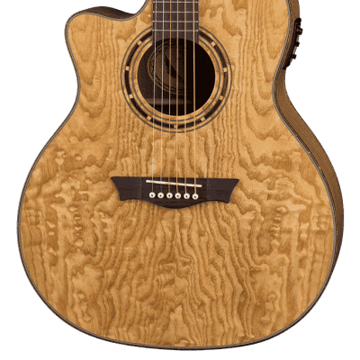 Dean Exotica Left Hand Acoustic/Electric Guitar, Quilt Ash Top/Body, EQAL GN for sale