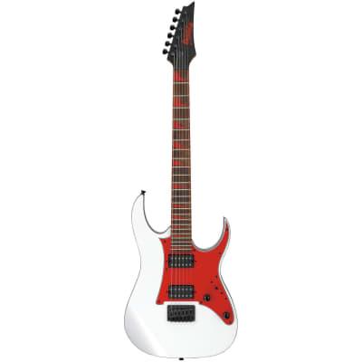 Ibanez Gio GRG131DX Electric Guitar - White w/ Red Pickguard