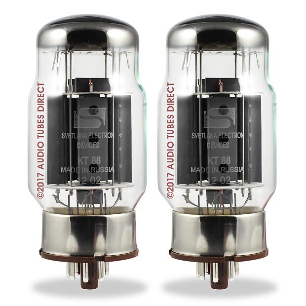 New Matched Pair Svetlana KT88 Amplifier Power Tubes