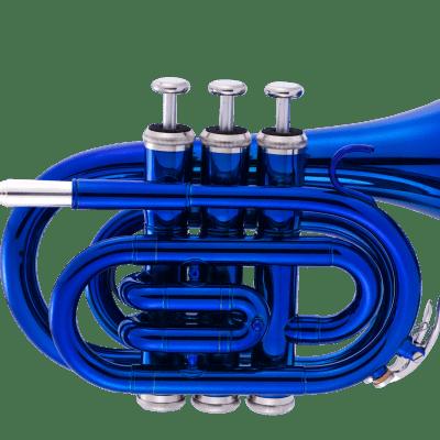 John Packer JP159B Key of Bb Pocket Trumpet w/Protective Case, Mouthpiece, Strap, Valve Oil & Guide