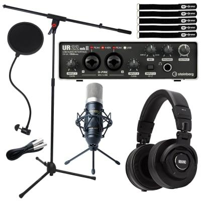 Steinberg UR22 MKII USB 2.0 Home Audio Recording Interface w Condenser Mic