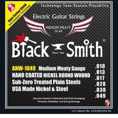 Black Smith électrique 10-49 coated - Jeu de cordes guitare électrique for sale