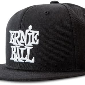 Ernie Ball 4154 BLACK WITH WHITE ERNIE BALL LOGO HAT - Ships FREE Lower 48 States! for sale