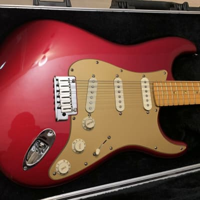 2008 Fender American Deluxe V Neck Stratocaster Candy Apple Red RARE Guitar SCN for sale