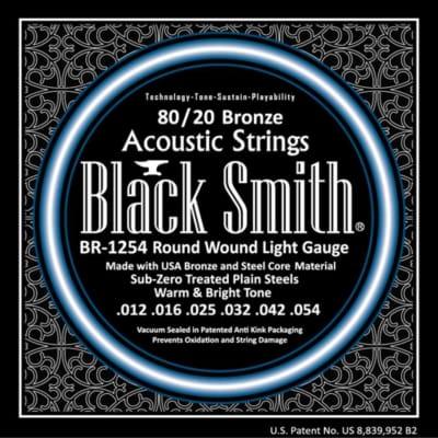 Blacksmith 6 String 80/20 Bronze Acoustic Guitar Strings - Light 12-54 for sale