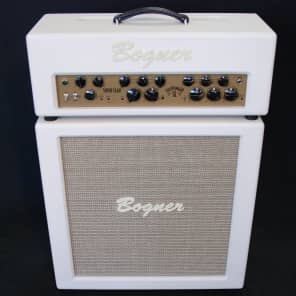 Bogner Goldfinger 45 Superlead Head and 2X12 Celestion Loaded Cabinet Ivory Ivory NEW