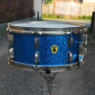 """Ludwig No. 902 Symphonic Model 6.5x14"""" 16-Lug Snare Drum with P-87 Strainer 1958 - 1960"""
