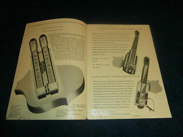 vintage 1953 national guitar catalog electric acoustic reverb. Black Bedroom Furniture Sets. Home Design Ideas