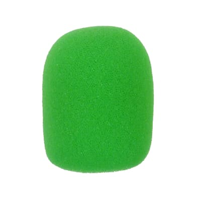 Microphone Windscreen - 5 Pack - Green - Fits Shure SM58, Beta 58A & Similar - Vocal Mic Cover New