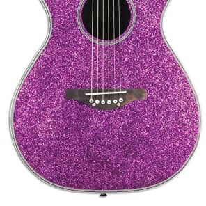 Daisy Rock DR6225 Pixie Acoustic-Electric Pink Sparkle Guitar for sale