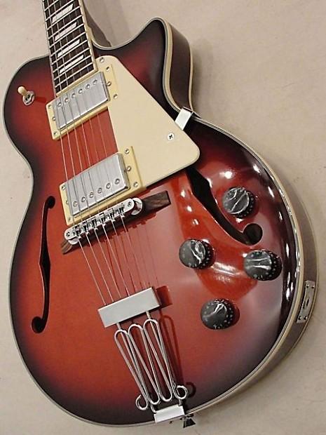 johnson jh 100 delta rose hollow emg designed lp style guitar reverb. Black Bedroom Furniture Sets. Home Design Ideas