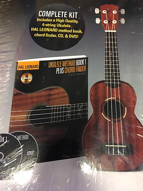 Hal Leonard Full Kit With Ukulele Method Book Chord Finder Cd Reverb