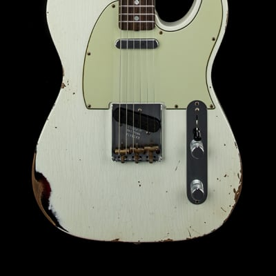 Fender Custom Shop Empire 67 Telecaster Relic - Aged Olympic White over 3-Color Sunburst #06143