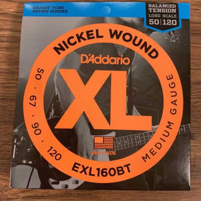 D'Addario EXL160BT Balanced Tension Medium Nickel Wound Long Scale Bass 4 Strings 50-120
