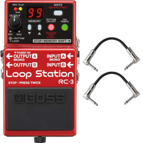 Boss RC3 RC-3 Loop Station Guitar Effects Pedal Stompbox Footswitch + Cables for sale