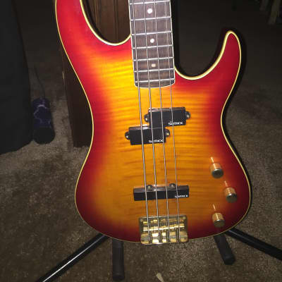 Samick Valley Arts Pro bass mid 90's Cherryburst for sale