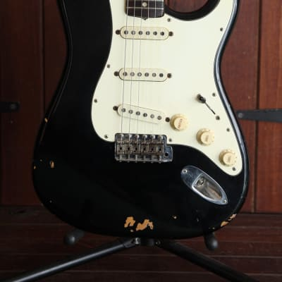 Fender 1971 Stratocaster Black Vintage Electric Guitar for sale