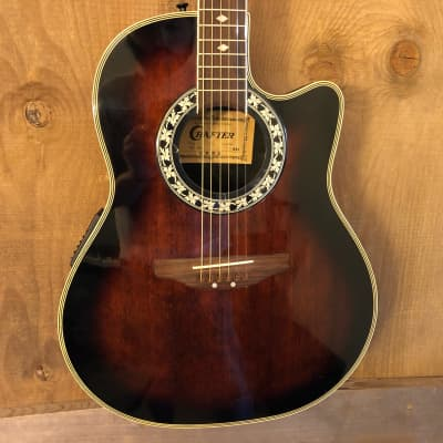 Crafter SF-900 Ovation-Style Acoustic Electric Guitar Brown Burst for sale