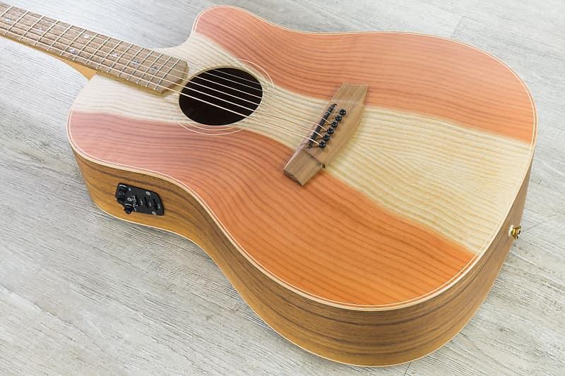 Cole Clark Fat Lady 2 Series FL2EC-RDBL Acoustic-Electric Guitar Redwood Top image