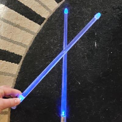 Trophy Music FX12BL Firestix Light Up Drum Sticks (Pair)