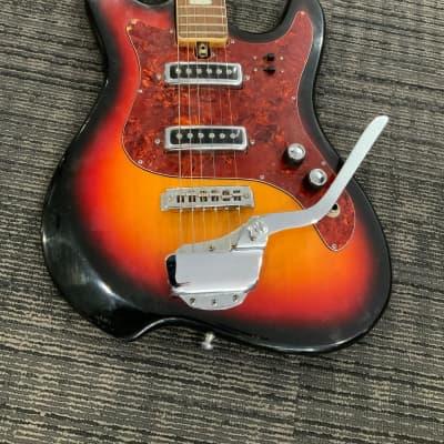 G Holiday Kawai 1960's Sunburst Electric Guitar (Cool Shape!) for sale