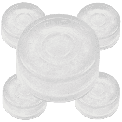 Mooer FT-CANDY-5 White Frost Transparent Footswitch Pedal Stompbox Plastic Toppers 5-Pack