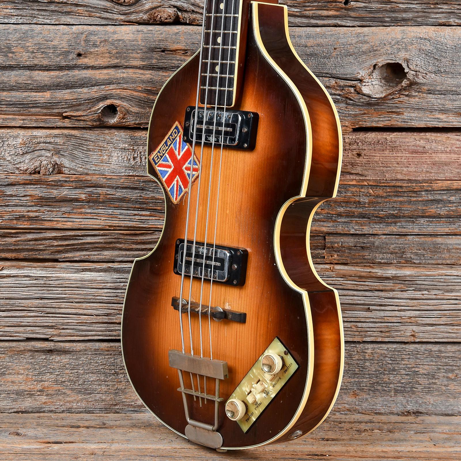 Hofner 500 1 Violin Bass Sunburst 1960s Used Guitar Wiring Diagram