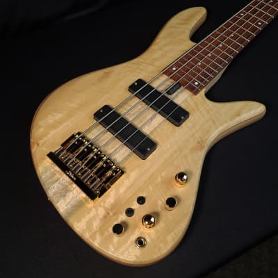 Fodera Emperor Standard Special Satinwood Top 5 String, Chambered W Case for sale