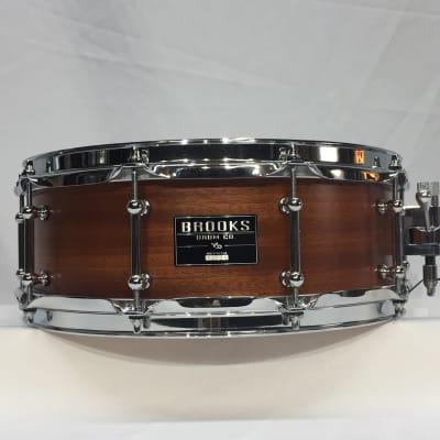 "Brooks 14"" X 5"" Snare drum 2019 Satin Mahogany"