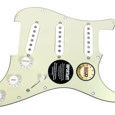 920D Custom Seymour Duncan SSL-1 Loaded S Style Pickguard MG/WH