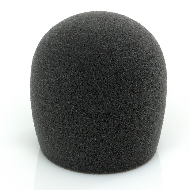 shure a58ws blk foam windscreen for all shure ball type reverb. Black Bedroom Furniture Sets. Home Design Ideas