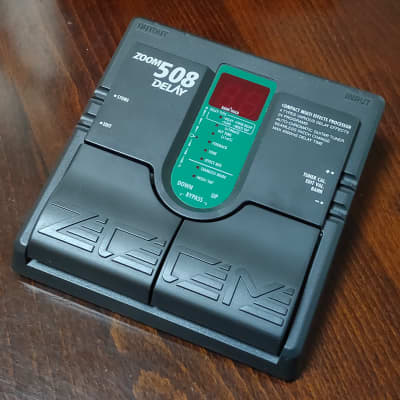 Zoom 508 Delay Compact Multi Effects Processor 1990s Black【Made in Japan / MIJ】Guitar Pedal