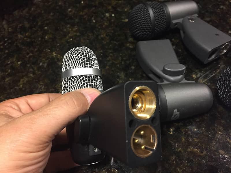 set of 4 mics 3 x osp tom drum microphone 1 x neewer reverb. Black Bedroom Furniture Sets. Home Design Ideas