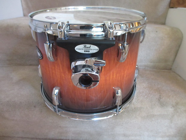 Pearl Vision Birch 13 X 10 Tom, Sunburst Fade, ISS Mount, Mint Condition!