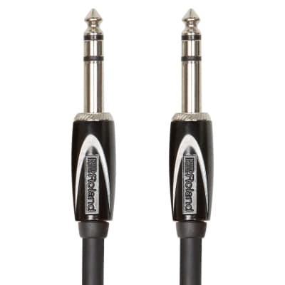 Roland Black Series Interconnect Cable - Stereo cable—1/4-inch TRS - 15FT / RCC-15-TRTR
