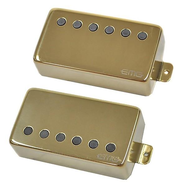 emg pickups emg 57 66 active humbucker guitar pickup set in reverb. Black Bedroom Furniture Sets. Home Design Ideas