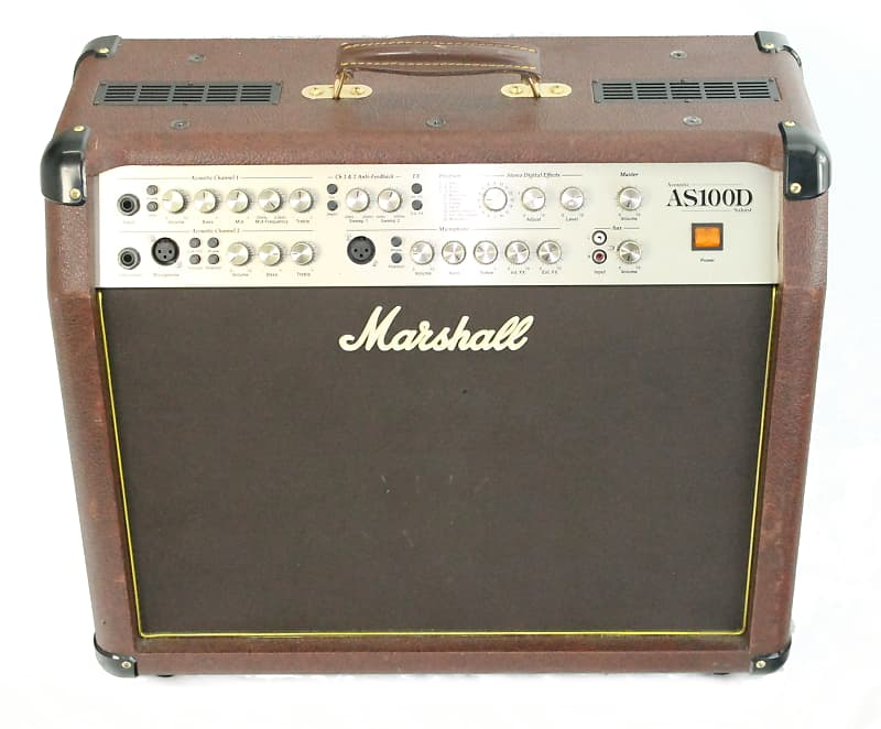marshall as100d 100 watt acoustic combo amp brown reverb. Black Bedroom Furniture Sets. Home Design Ideas