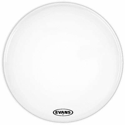 "Evans BD22MX1W MX1 White Marching Bass Drum Head - 22"""