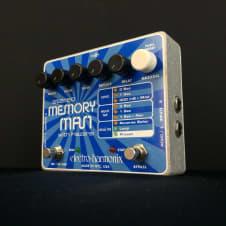 Electro-Harmonix Memory Man Stereo with Hazarai Looper Guitar Effect Pedal